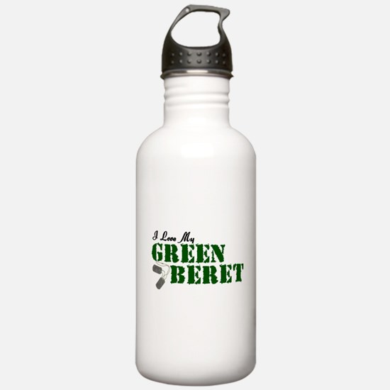 I Love My Green Beret Water Bottle