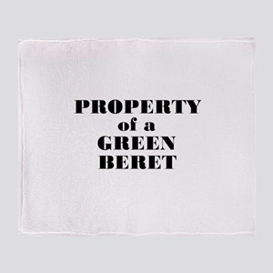 Property of a Green Beret Throw Blanket