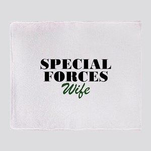 Special Forces Wife Throw Blanket