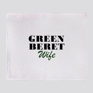 Green Beret Wife Throw Blanket