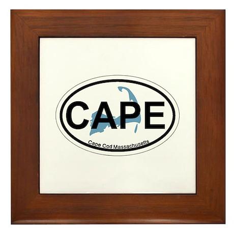 Cape Cod MA - Oval Design Framed Tile