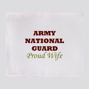 National Guard Proud Wife Throw Blanket