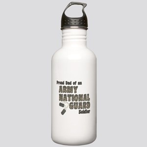 National Guard Dad (tags) Stainless Water Bottle 1