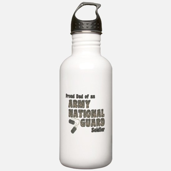 National Guard Dad (tags) Water Bottle