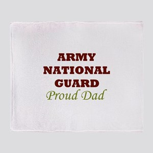 National Guard Proud Dad Throw Blanket