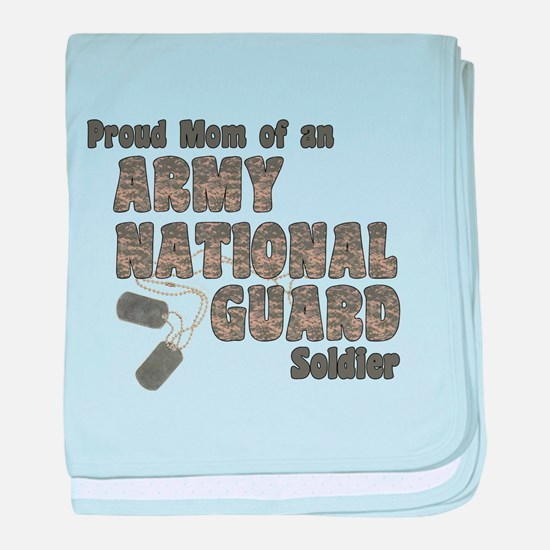 Cute Army national guard baby blanket