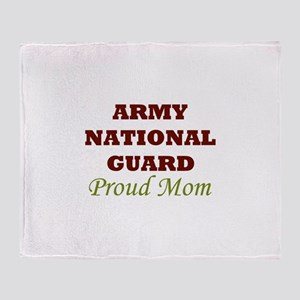 National Guard Proud Mom Throw Blanket