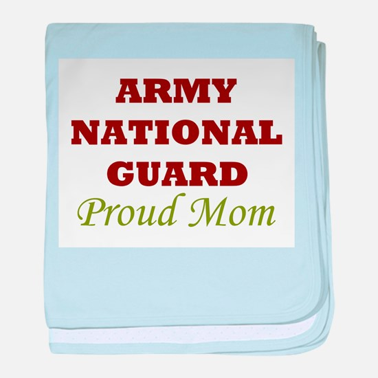 National Guard Proud Mom baby blanket