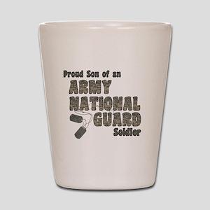 National Guard Son (tags) Shot Glass