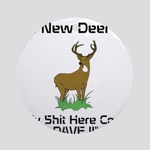 New Deer Call Ornament (Round)