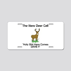 New Deer Call Aluminum License Plate