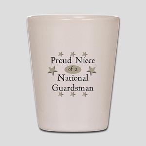 Proud Niece National Guard Shot Glass