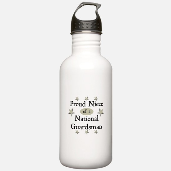 Proud Niece National Guard Water Bottle