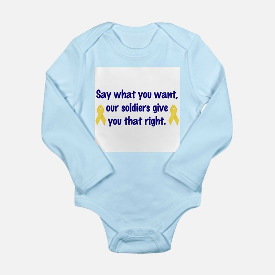 Soldiers Right Long Sleeve Infant Bodysuit