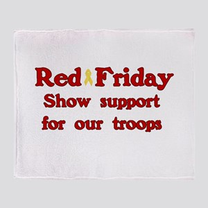 Red Friday Throw Blanket