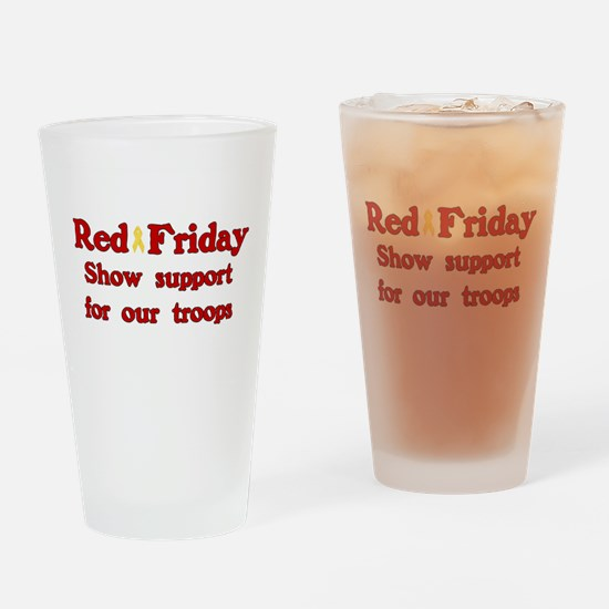 Red Friday Drinking Glass