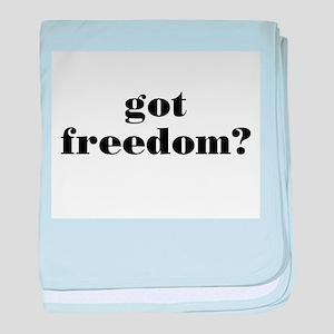 Got Freedom? baby blanket