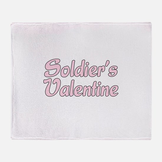Soldier's Valentine Throw Blanket