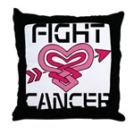 Fight Cancer Throw Pillow