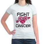 Fight Cancer Jr. Ringer T-Shirt