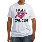 Fight Cancer Fitted T-Shirt