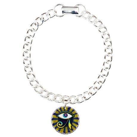 Eye of Osiris Charm Bracelet, One Charm