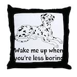 Wake Me Up Throw Pillow