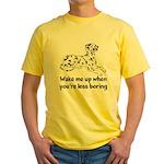 Wake Me Up Yellow T-Shirt