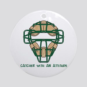 Catcher with an Attitude Ornament (Round)
