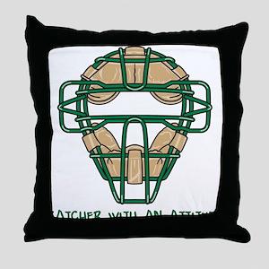 Catcher with an Attitude Throw Pillow