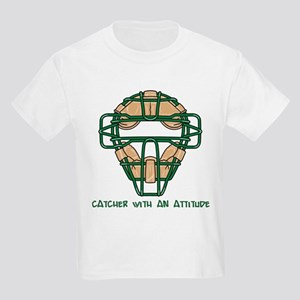 Catcher with an Attitude Kids Light T-Shirt