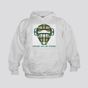 Catcher with an Attitude Kids Hoodie