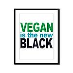 Vegan is the New Black Framed Panel Print
