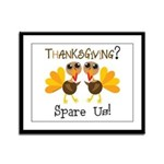 Vegan Thanksgiving Framed Panel Print