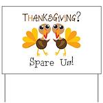 Vegan Thanksgiving Yard Sign