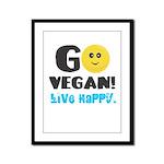 Go Vegan Framed Panel Print