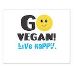 Go Vegan Small Poster
