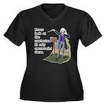 Conductor Women's Plus Size V-Neck Dark T-Shirt