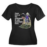 Conductor Women's Plus Size Scoop Neck Dark T-Shir