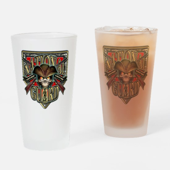 US Army National Guard Shield Drinking Glass