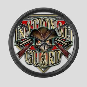 US Army National Guard Shield Large Wall Clock