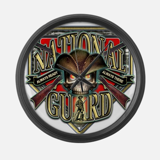 US Army National Guard Shield Large Wall Clock
