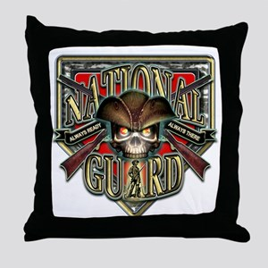 US Army National Guard Shield Throw Pillow
