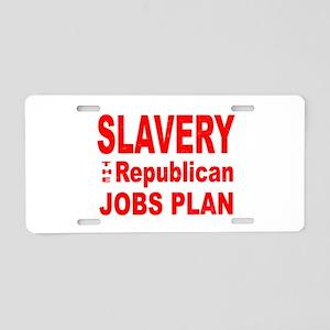 Republican GOP Jobs Plan Aluminum License Plate