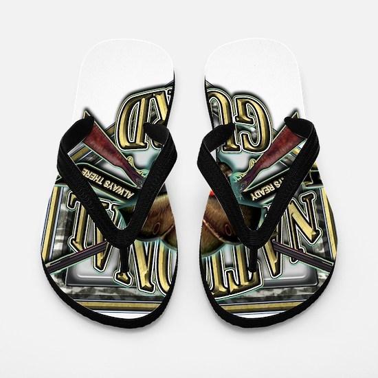 US Army National Guard Shield Flip Flops