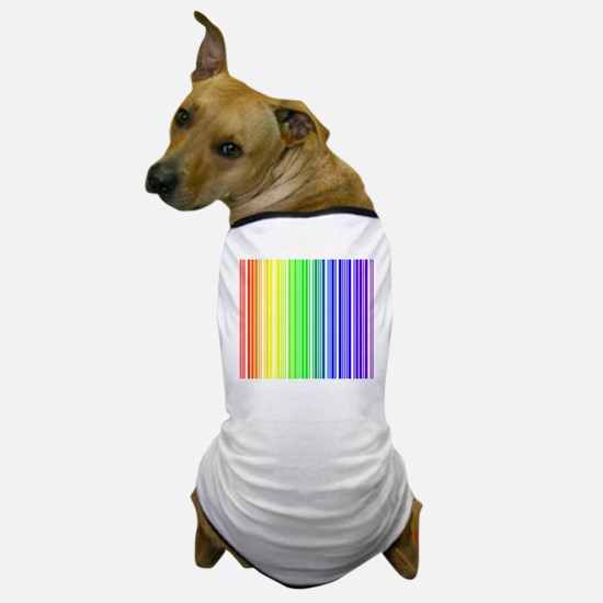 Rainbow Barcode Dog T-Shirt