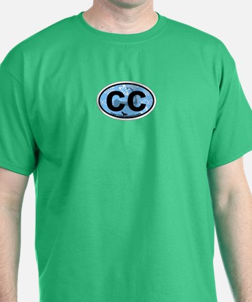Cape Cod MA - Oval Design T-Shirt