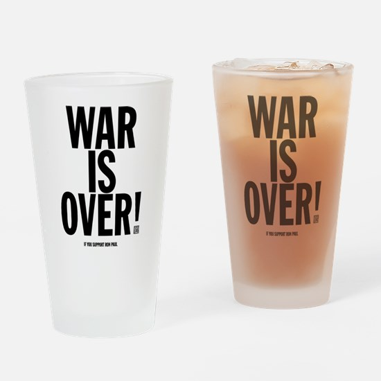 War Is Over! Drinking Glass