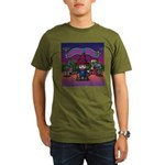 Horror night Organic Men's T-Shirt (dark)