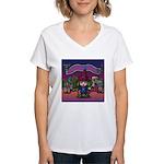 Horror night Women's V-Neck T-Shirt